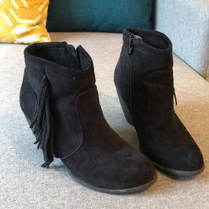 Velvet booties.